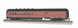 Bachmann 13607 HO Scale 72' Heavyweight Combine w/Round Door Window - Ready to Run -- Pennsylvania Railroad #5159 (Postwar Tuscan, Dulux, black)