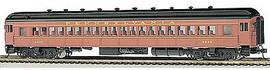 Bachmann 13707 HO Scale 72' Heavyweight Coach - Ready to Run -- Pennsylvania Railroad #4536 (Postwar, Tuscan, yellow)