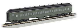 Bachmann 13708 HO Scale 72' Heavyweight Coach - Ready to Run -- Painted, Unlettered, (Pullman Green, black)