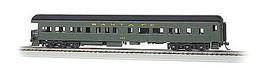 Bachmann 13801 HO Scale 72' Heavyweight Observation - Ready to Run -- Santa Fe #407 (Pullman Green, black)