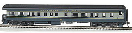 Bachmann 13803 HO Scale 72' Heavyweight Observation - Ready to Run -- Baltimore & Ohio #130 (blue, gray, black)