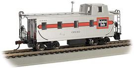 Bachmann 14001 HO Scale Slanted Offset-Cupola Caboose - Ready to Run -- Chicago, Burlington & Quincy #13530 (silver, red)