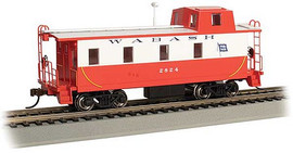 Bachmann 14002 HO Scale Slanted Offset-Cupola Caboose - Ready to Run -- Wabash #2824 (white, red)