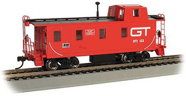 Bachmann 14004 HO Scale Slanted Offset-Cupola Caboose - Ready to Run -- Grand Trunk Western 122 (red, black, Noodle GT)