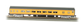 Bachmann 14204 HO Scale 85' Smooth-Side Coach w/Lights - Ready to Run -- Union Pacific
