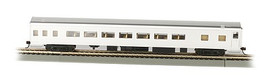 Bachmann 14208 HO Scale 85' Smooth-Side Coach w/Lights - Ready to Run -- Painted, Unlettered (aluminum)
