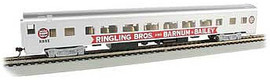 Bachmann 14210 HO Scale 85' Smooth-Side Coach w/Lights - Ready-to-Run -- Ringling Bros. and Barnum & Bailey(TM)