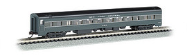 Bachmann 14255 N Scale 85' Smooth-Side Coach w/Lighting - Ready to Run -- New York Central (2-Tone Gray)