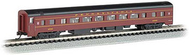 Bachmann 14256 N Scale 85' Smooth-Side Coach with Interior Lighting - Ready to Run -- Pennsylvania Railroad 4292