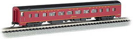 Bachmann 14257 N Scale 85' Smooth-Side Coach with Interior Lighting - Ready to Run -- Norfolk & Western 1728 (maroon, black)