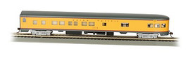Bachmann 14304 HO Scale 85' Smooth-Side Observation w/Lights - Ready to Run -- Union Pacific