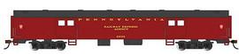Bachmann 14401 HO Scale 72' Smooth-Side Baggage - Ready to Run -- Pennsylvania Railroad #9230 (Tuscan, black)