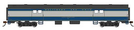 Bachmann 14402 HO Scale 72' Smooth-Side Baggage - Ready to Run -- Baltimore & Ohio #763 (blue, gray, black)