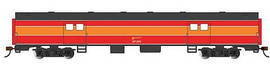 Bachmann 14404 HO Scale 72' Smooth-Side Baggage - Ready to Run -- Southern Pacific #295 (Daylight; red, orange, black)