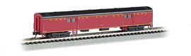 Bachmann 14452 N Scale 72' Smooth-Side Baggage Car - Ready to Run -- Norfolk & Western (maroon, black)
