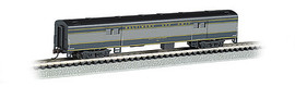 Bachmann 14453 N Scale 72' Smooth-Side Baggage Car - Ready to Run -- Baltimore & Ohio (blue, gray, black)