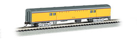 Bachmann 14454 N Scale 72' Smooth-Side Baggage Car - Ready to Run -- Union Pacific (Armour Yellow, gray, red)