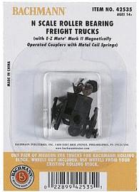 Bachmann 42535 N Scale Freight Trucks Less Wheels  12 Pairs -- Roller Bearing