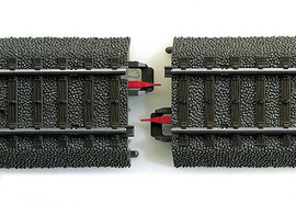 Marklin 74030 HO Scale Marklin Rail Joint Insulator -- For C Track pkg(8)