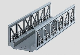 """Marklin 74620 HO Scale C-Track -- Truss Bridge - 7-3/32""""  18cm"""