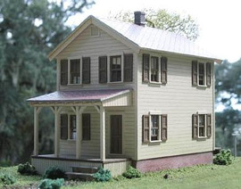 BTS 7700 S Scale Craftsman Kits - #110 2nd Street House -- 18' x 40'