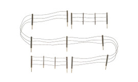 Woodland Scenics 2980 HO Scale Barbed Wire Fence - Kit with Gates, Hinges & Planter Pins -- Total Scale Length: 192'  58.5m