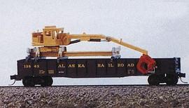 Railway Express Miniatures 2081 N Scale Kit MOW Vehicles -- MOW Gondola Crane