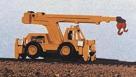 Railway Express Miniatures 2131 N Scale Kit MOW Equipment -- Hydraulic High Rail MOW Crane