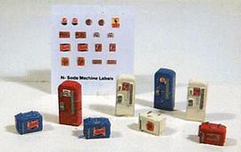 Railway Express Miniatures 2191 N Scale Kit Soda Machine Set pkg(8)