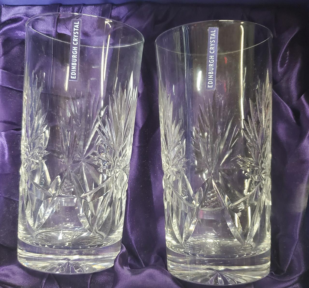 Highball Star of Edinburgh Crystal Glasses (tall, 2 per set)