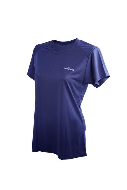 Women's Moisture Wicking T-shirt (Navy Blue)