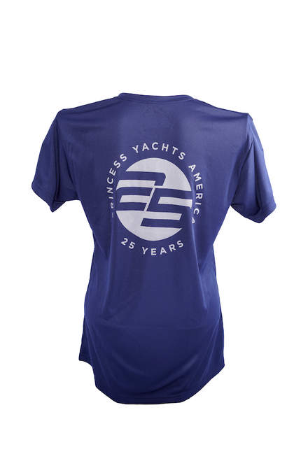 Women's Moisture Wicking T-shirt (Navy Blue)