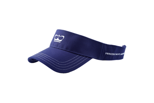 Visor with Crown (Navy Blue)
