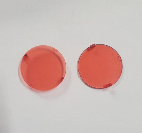Red Plastic Lens