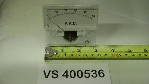 """AMP Meter (0-50, Width 3"""")"""