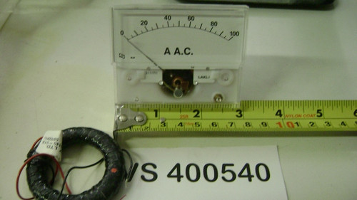 "AMP Meter 0-100 3"" Wide (with Transformer)"
