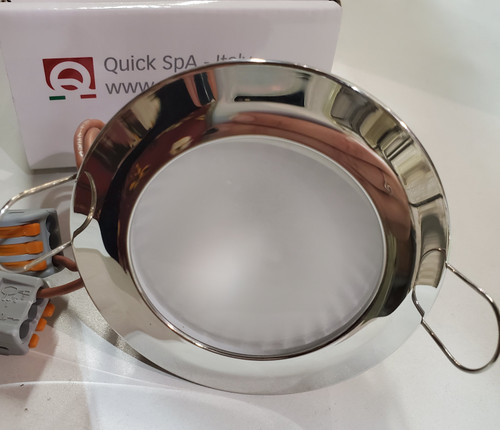 QUICK Andreas LED Downlighter (Frosted Lens, Chrome Rim)
