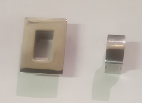 Square Knob w/ Square Face Plate (sold as pair)