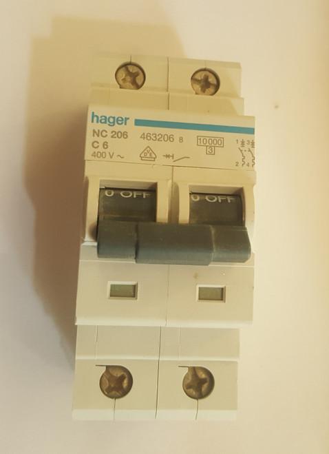 Hager Breaker (6Amp Double Pole)