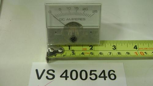 "AMP Meter 0-25 2.3"" Wide"