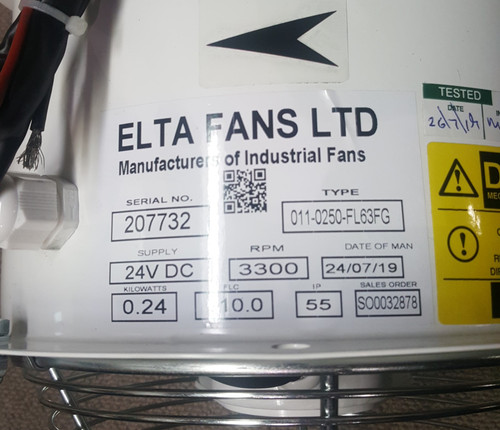 Engine Room Fan (ELTA 3300 RPM - 250MM)