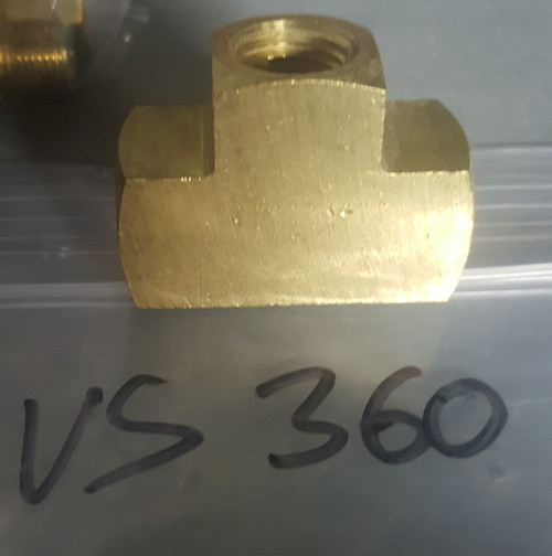 Buell Tee Brass Fitting