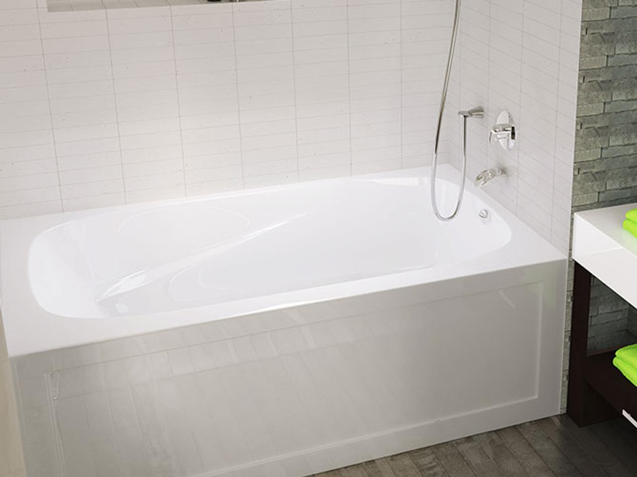 "mirolin phoenix 60"" x 30"" skirted right hand bath tub - york taps"
