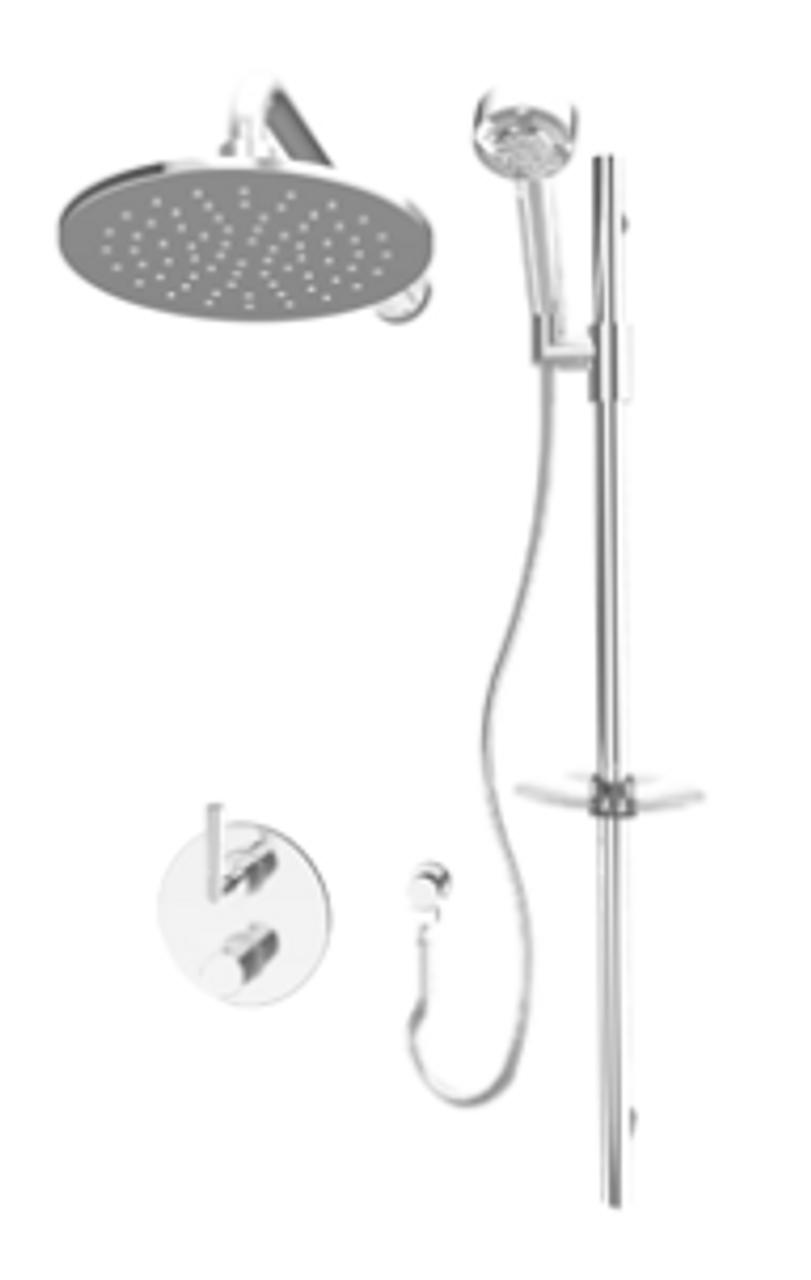Rubi Dana Bathroom Thermostatic Shower System Chrome Finish York Taps