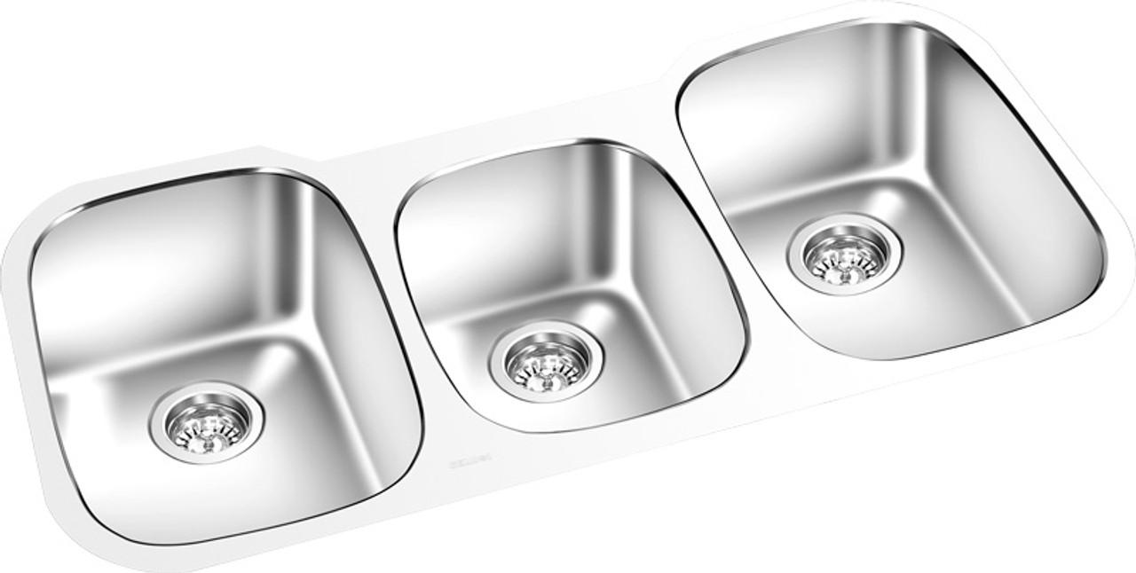 Triple Bowl Under Mount Kitchen Sink 42 X 18 York Taps
