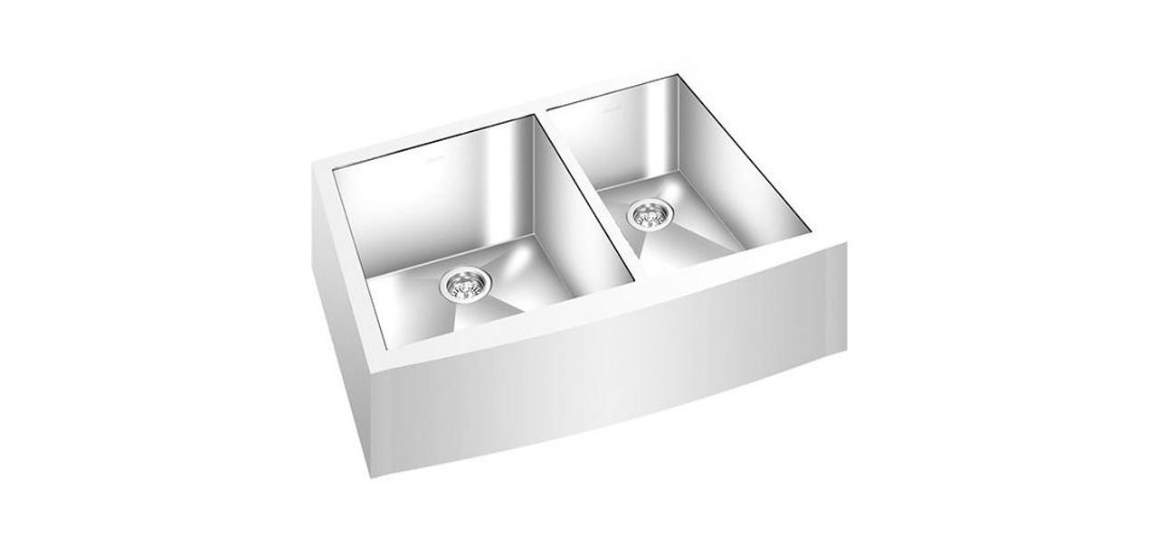 Apron Front Double Bowl Kitchen Sink 32 X 20 York Taps