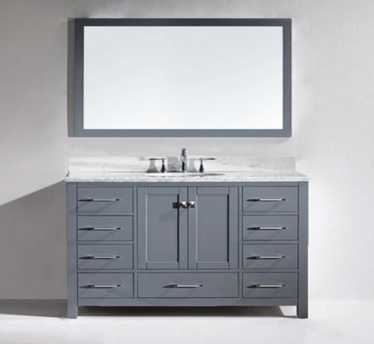 Armada 60 Vanity Single Sink Light Gray York Taps