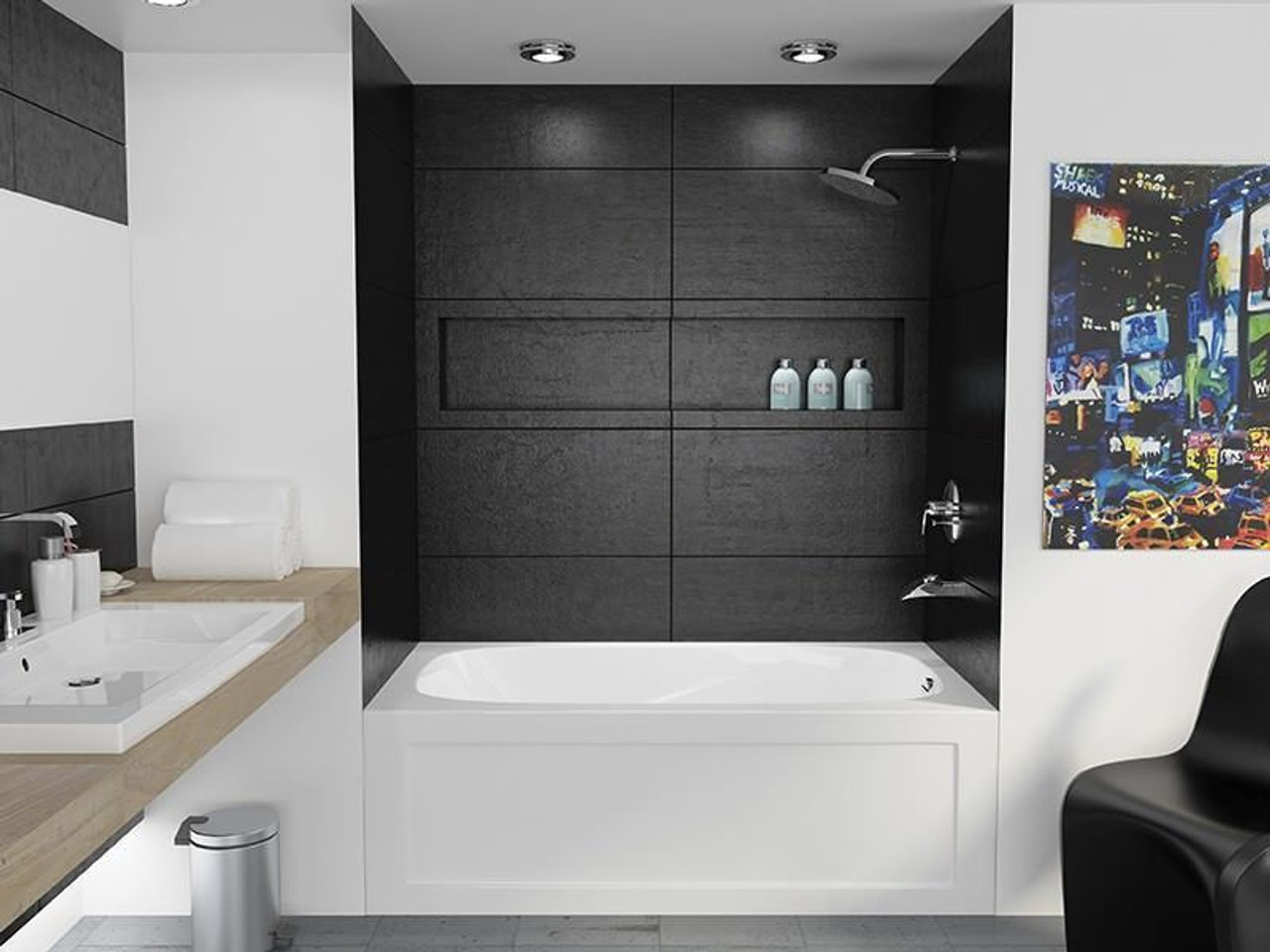 mirolin tucson skirted bath tub 60 x 32 right hand drain - york taps