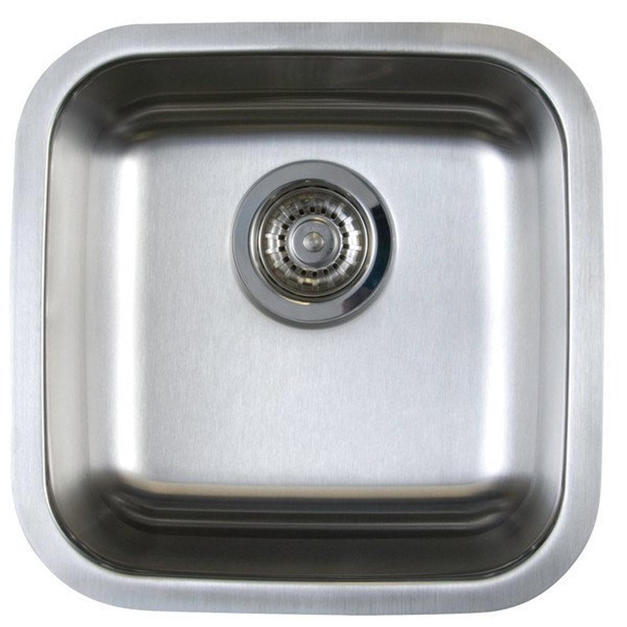 Blanco 401029 Stellar U 1 Bowl Undermount Bar Sink Stainless Steel