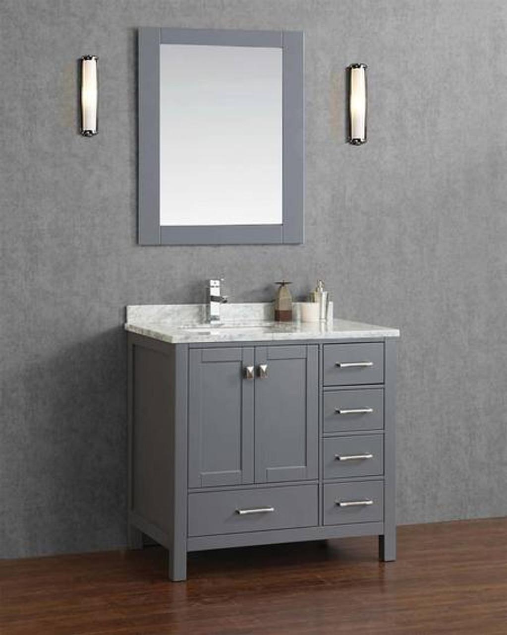 Armada 36 Bathroom Vanity Ice Grey York Taps